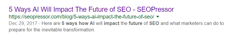 Meta Description - 5 ways ai impact future seo