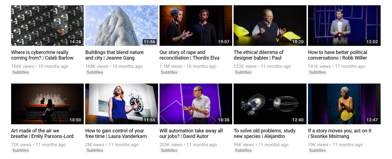 TEDTalk - YouTube 18 minutes