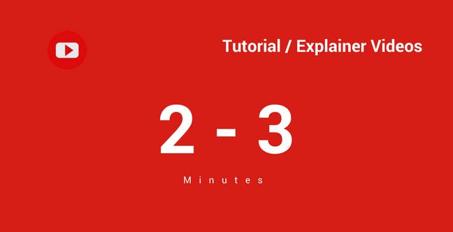 Tutorial Explainer Ideal Length
