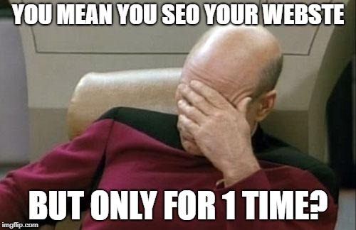 NO SEO CONSISTENCY