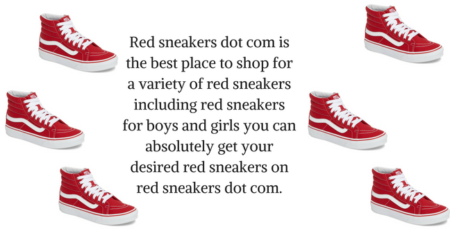 keyword stuffing red sneakers