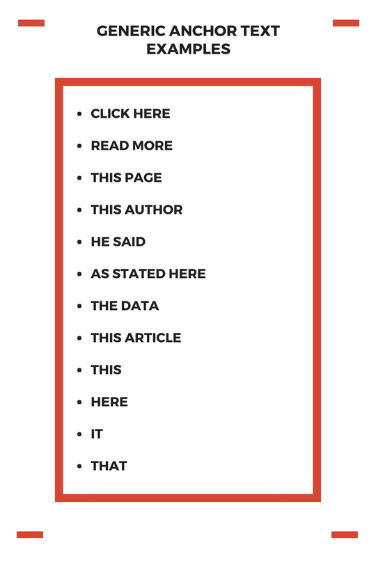GENERIC ANCHOR TEXT EXAMPLES