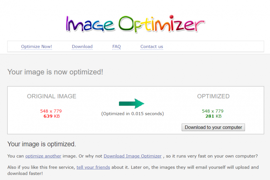 image optimizer - optimize your blog images
