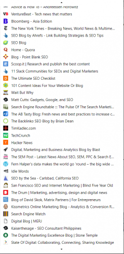blogs bookmarked