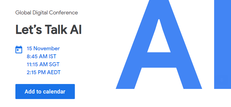 Google Let's Talk AI Webinar