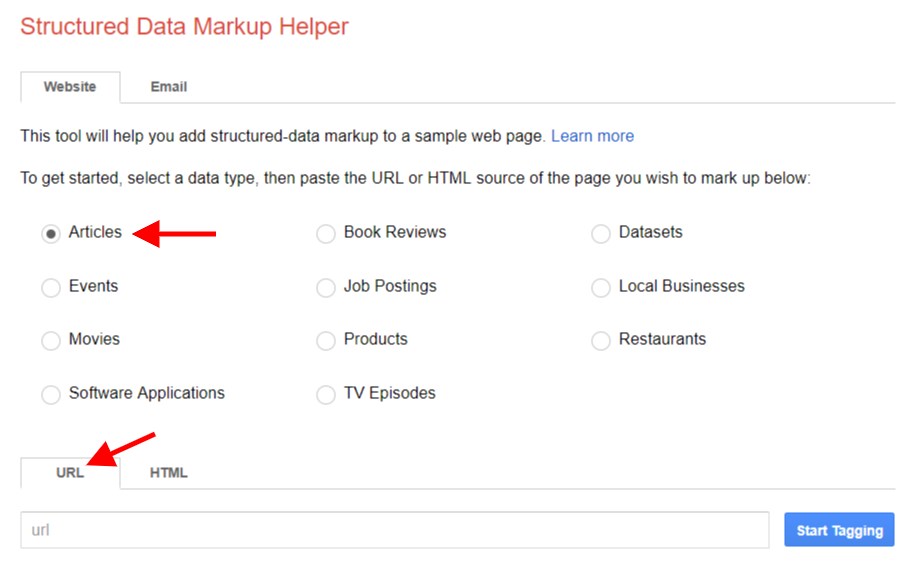 Google Structured Markup Tool