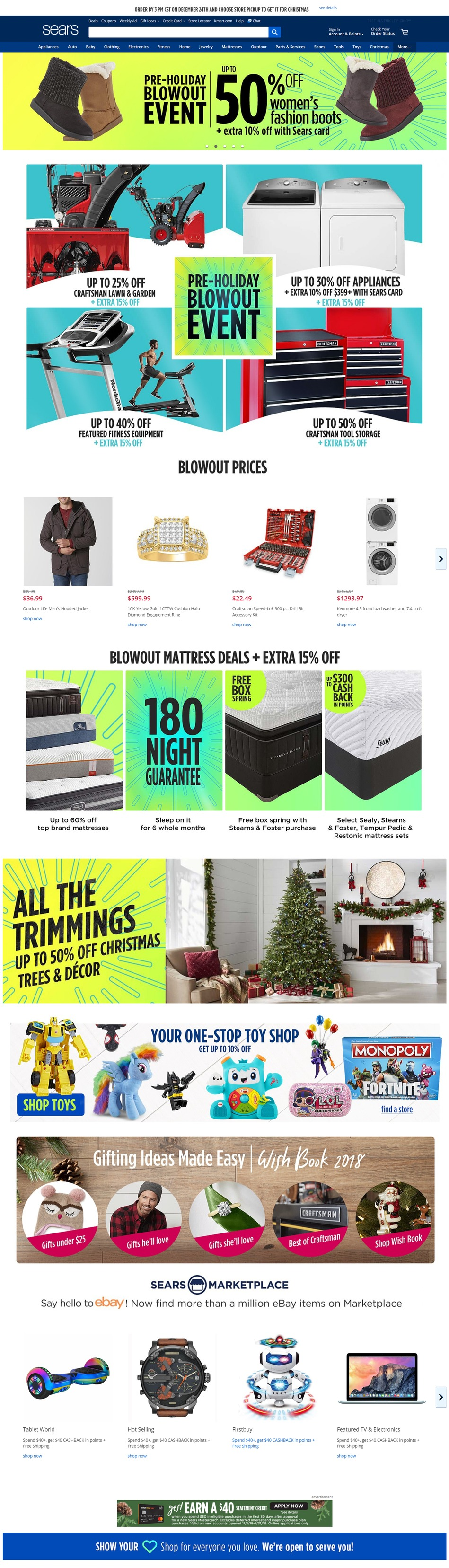 Sears Resized holiday sales