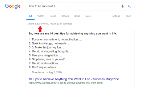 How To Be Successful Search Query