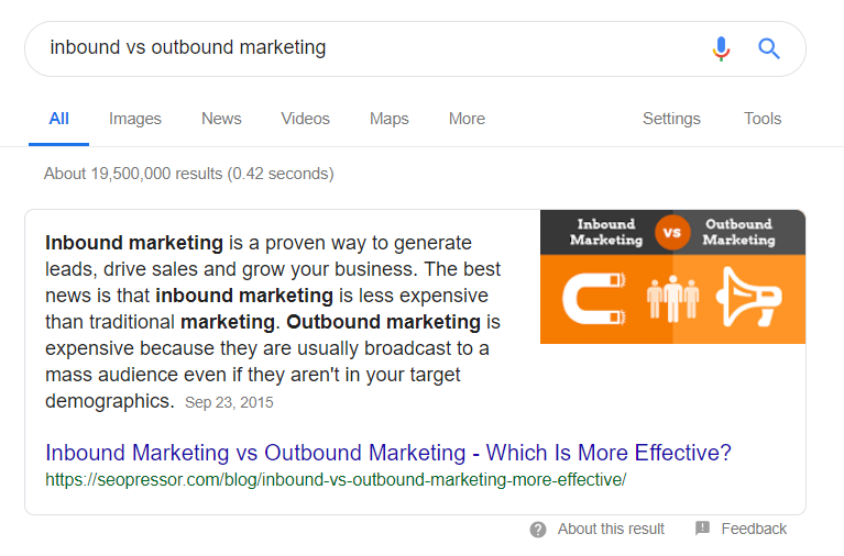 inbound vs outbound marketing - Google Search
