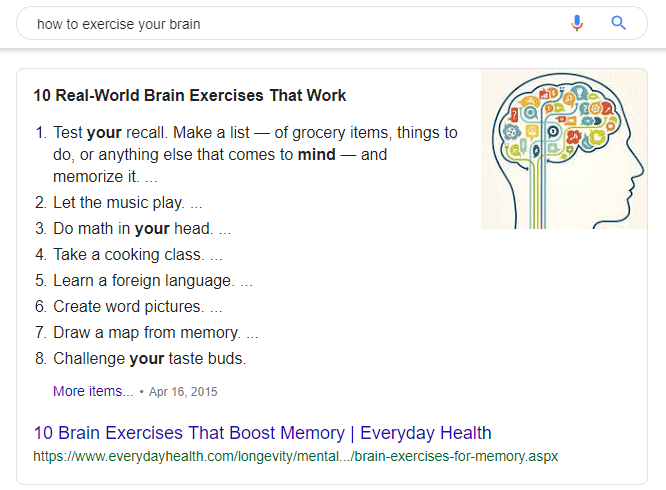 how to exercise your brain - Google Search
