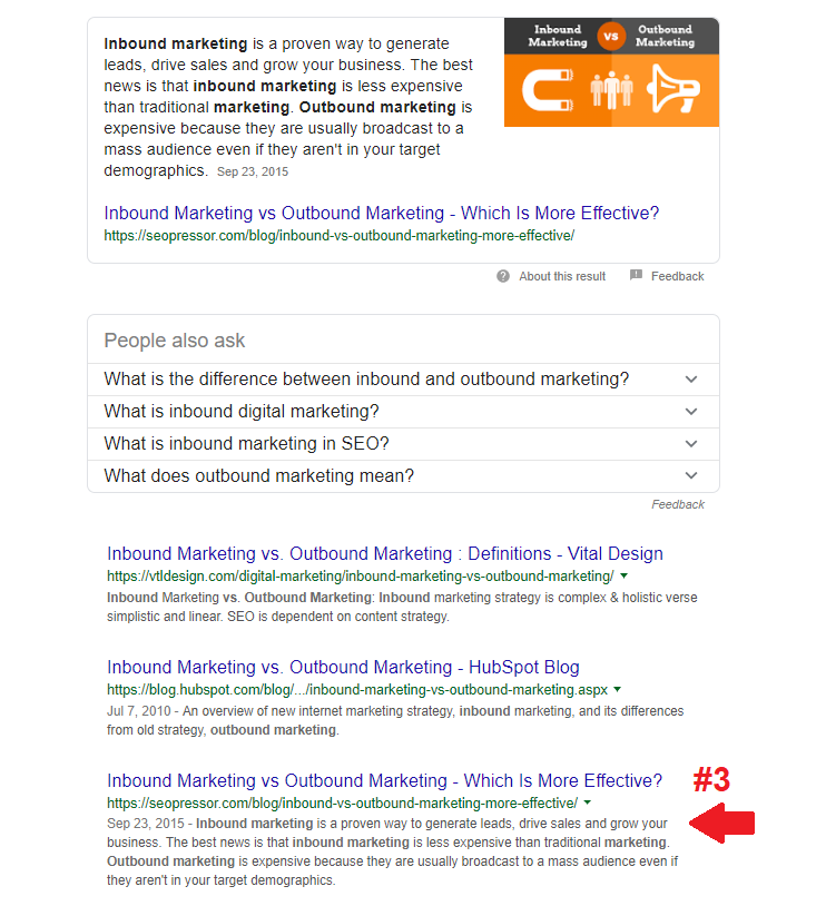 inbound vs outbound marketing - Google Search