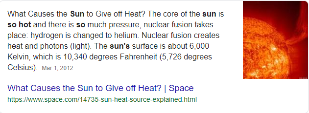 why is the sun so hot - Google Search
