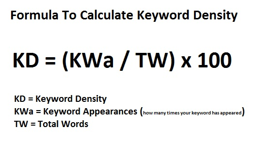 1 Keyword Density Formula