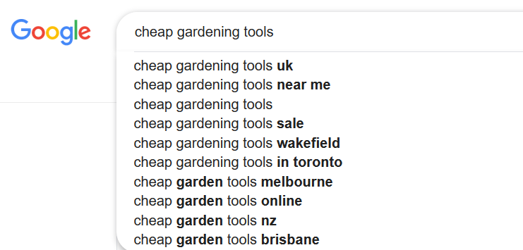 autocomplete suggestions 2