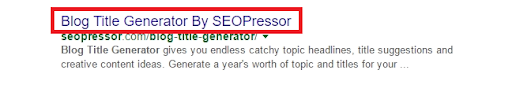 on page seo title tag