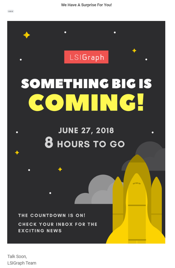 LSIGraph awareness email marketing in 2019