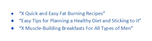 Catchy Headline examples