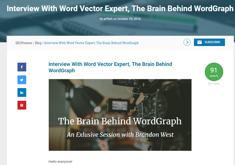 Interviews increase website traffic