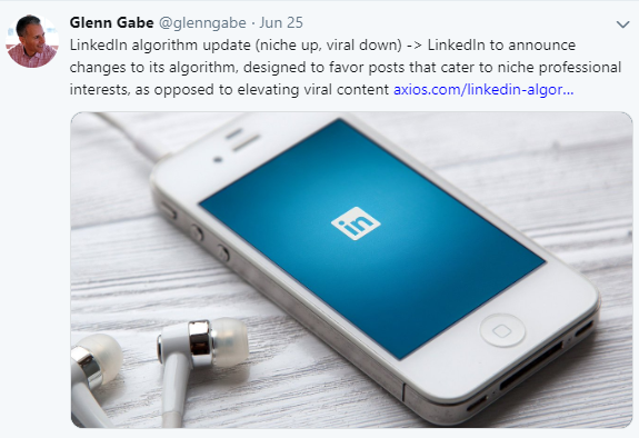 LinkedIn changes their algorithm. Niche up, viral down.