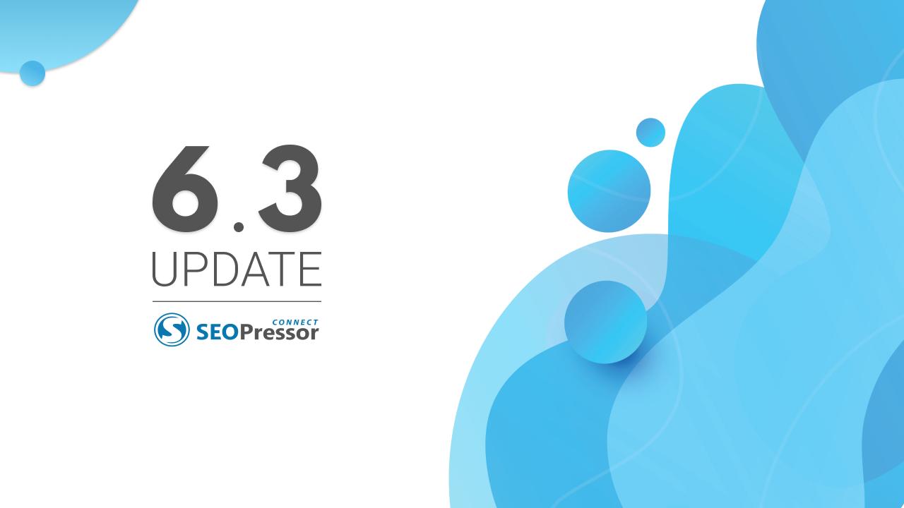 SEO blog 6.3 update