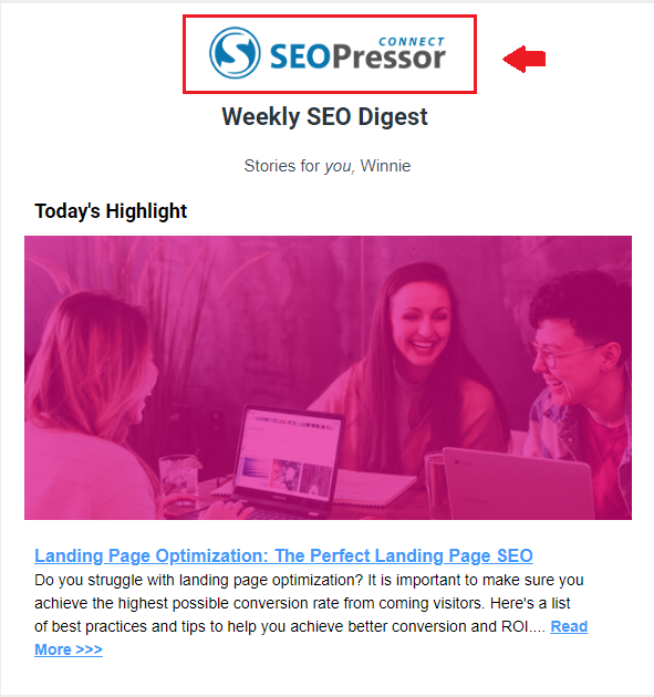 Weekly Newsletter SEOPressor email marketing