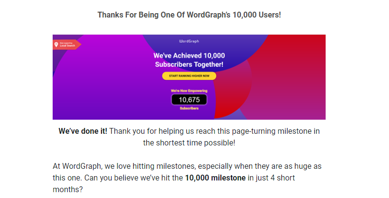 WordGraph Thank You Emails