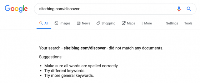 Bing Discover