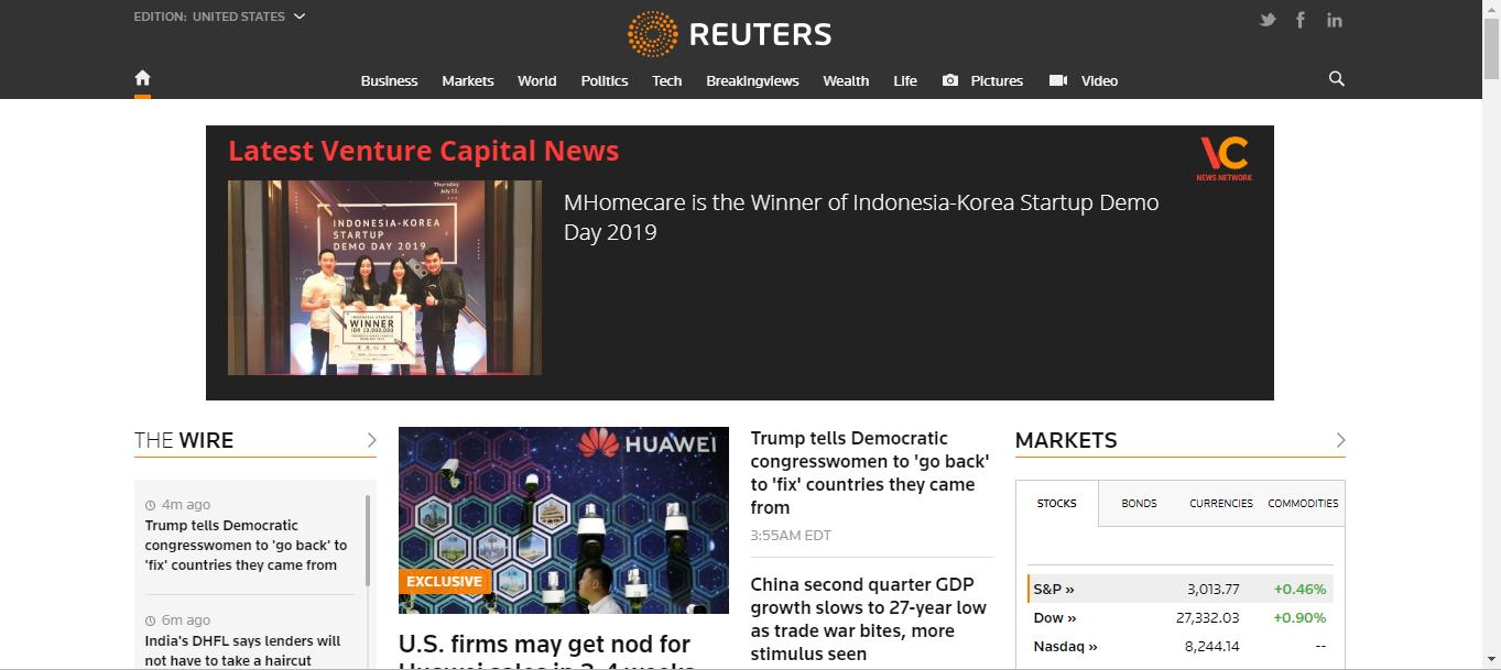 Reuters' Homepage