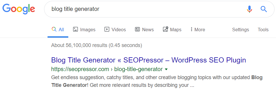Enticing headline and meta description is what gets people to click into your page.