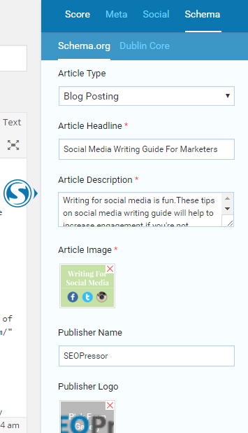 Schema Markup for Blog Post