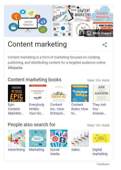 content marketing google knowledge panel
