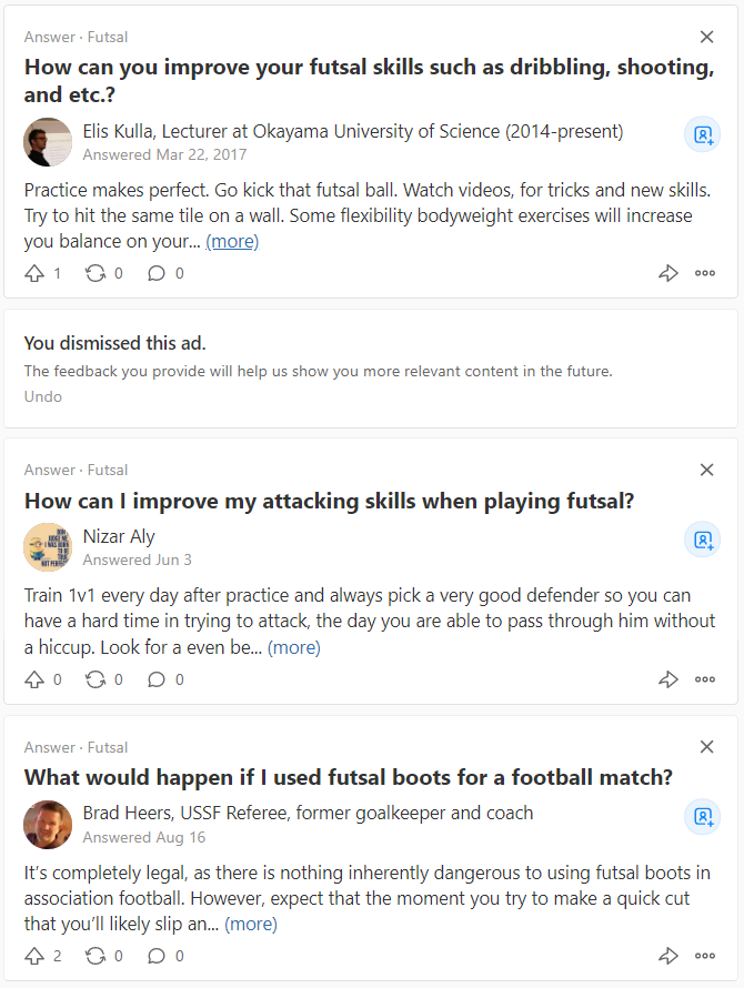 Search on Quora: Futsal