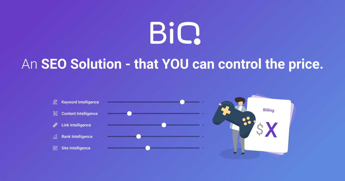 BiQ- the SEO suite that you can control the price