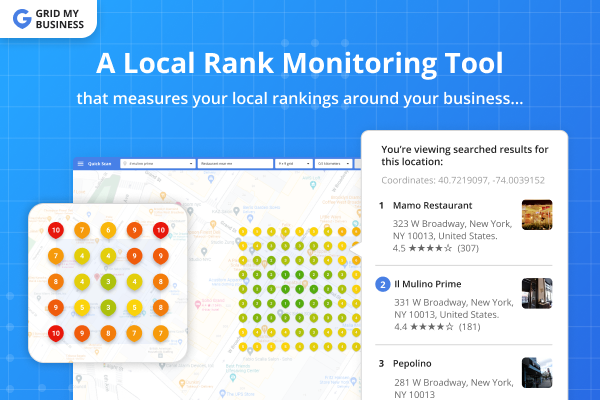 Local Rank Monitoring Tool - Grid My Business
