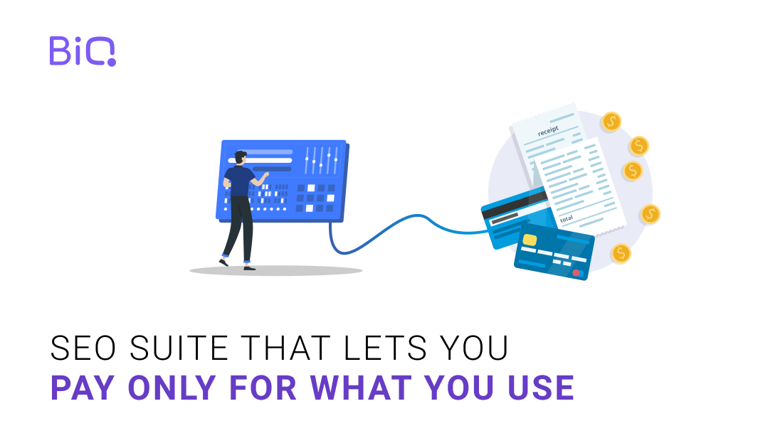 BiQ is an SEO suite that lets you pay only for what you use