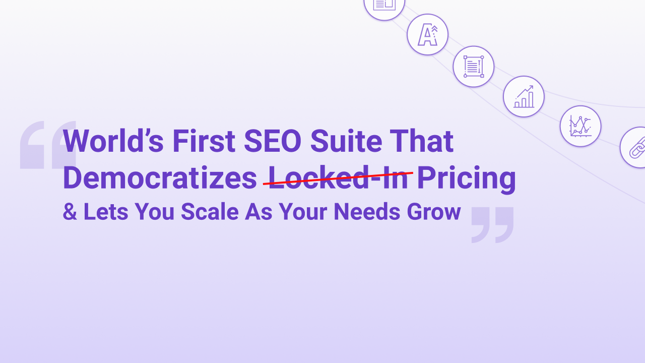 BIQ is the world's first SEO suite that democratizes its pricing