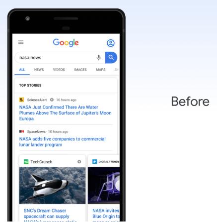 Google News Update - Before
