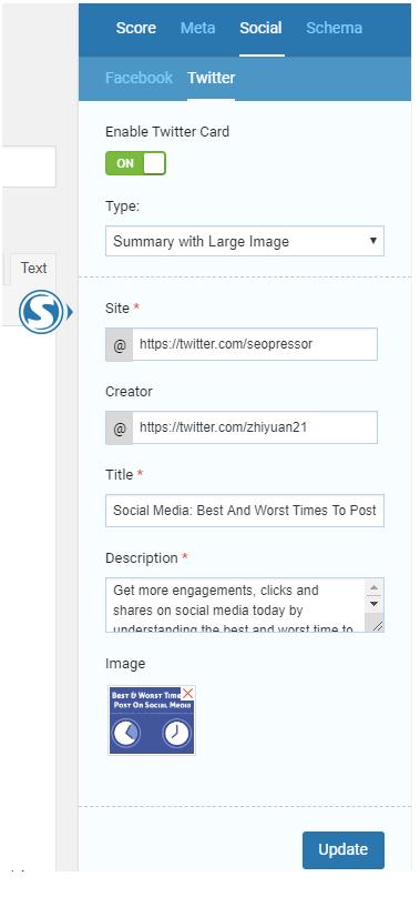 SEOPressor's Social Markup