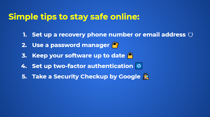 By Google: Simple Tips To Stay Safe Online
