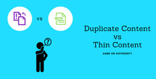 Duplicate content isn't thin content, but it does make your content look thinner.