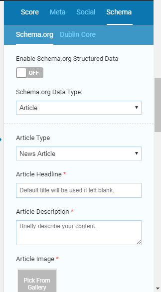 Article structured data