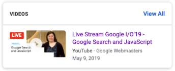 Live Video on Google [Example]