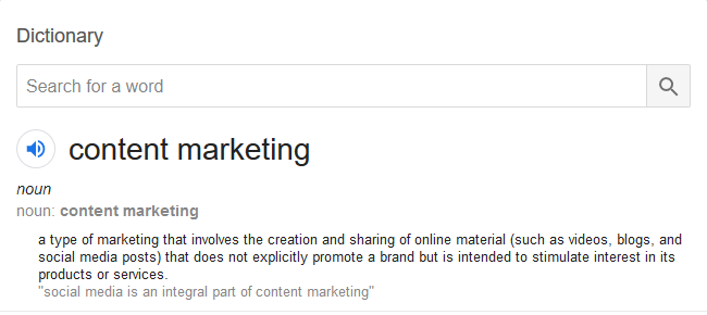 What is content marketing, the definition.