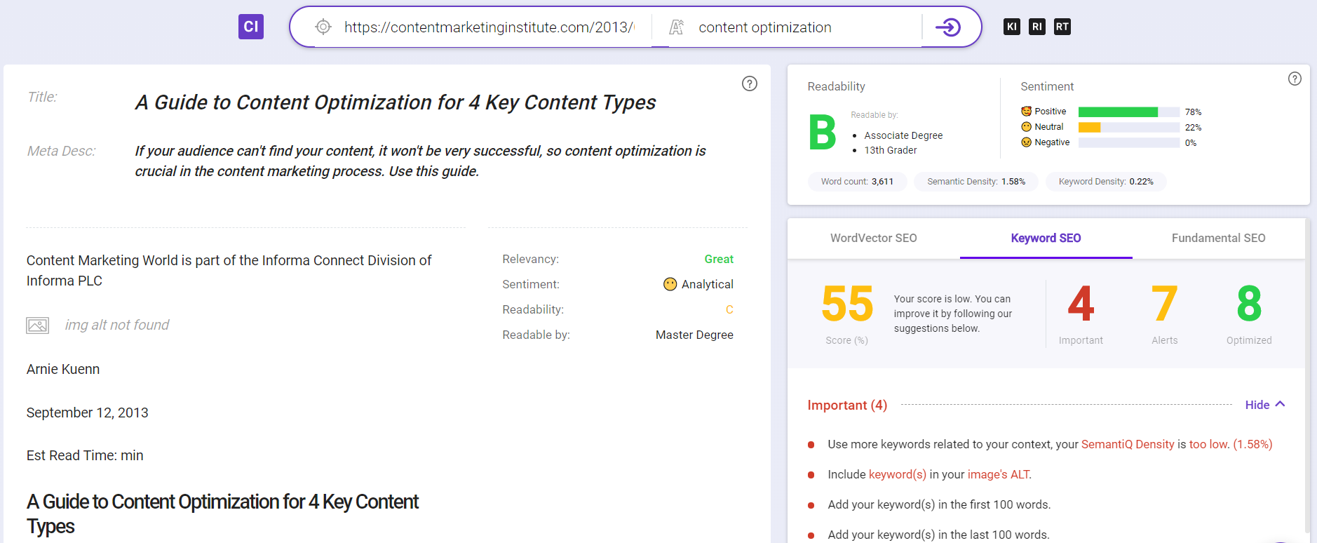 BiQ Content Intelligence
